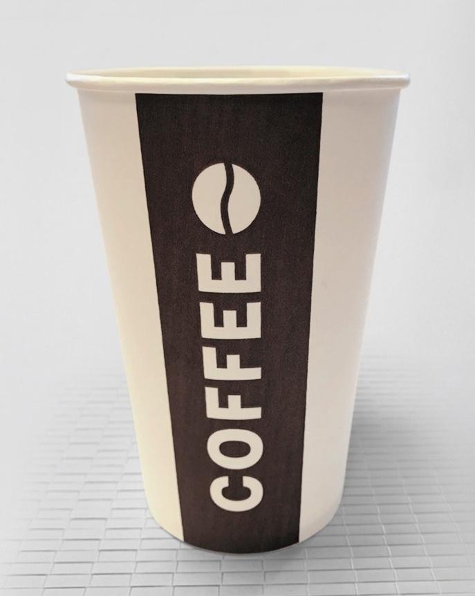 "Стакан бумажный 330 мл ""Coffee-Tea"", однослойный, d 81 мм, h 120 мм (без крышек)"