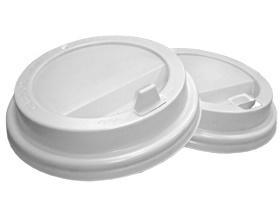 Крышка белая d 70 мм с откидным носиком ПС (арт. 120012, 120020, 120025)