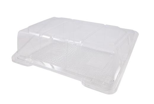 Упаковка 450 мл 190х120х60 мм прозрачная, ПЭТ (крышка откидная)