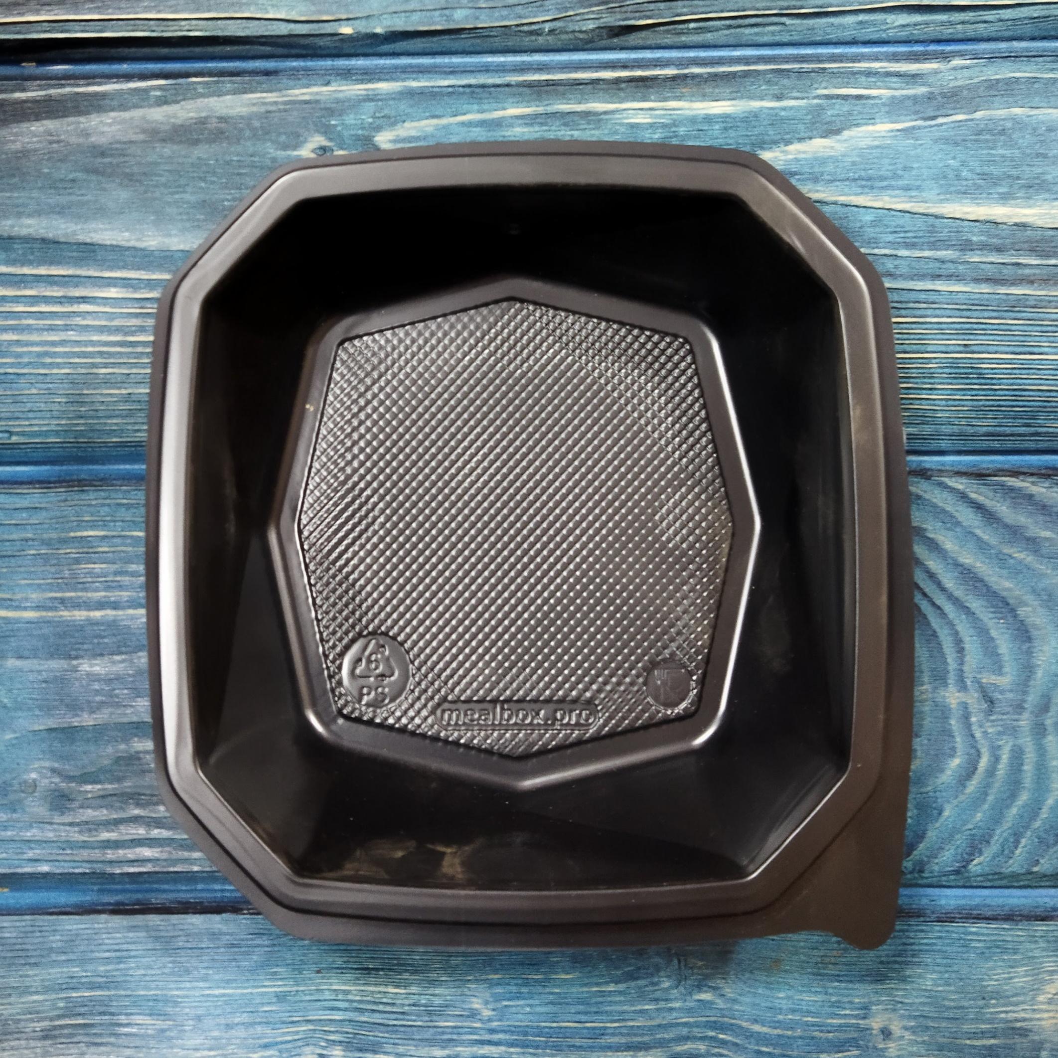 Контейнер Diamond-Box 950 мл d-160 мм чёрный, ПС (крышка 230660)