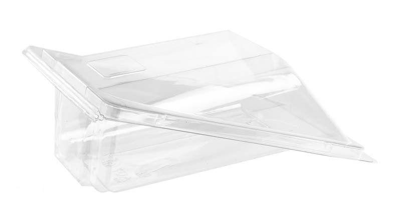 Упаковка для роллов и блинов 159х105х46 мм, ПЭТ (крышка откидная)