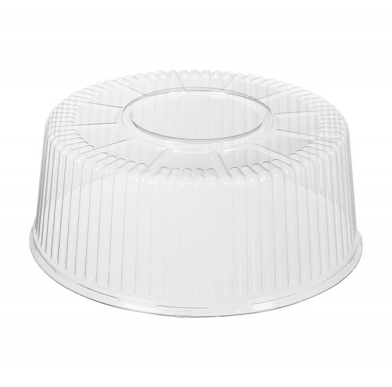 Крышка для торта на 2,5 кг d 281 мм h 117 мм, БОПС (дно 240361)