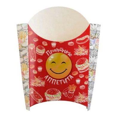 """Коробка для картофеля фри на 80 гр 73х45х88 мм """"Smile"""""""