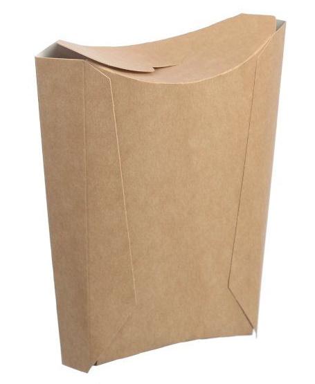 Коробка для картофеля фри на 150 гр 105х45х150 мм крафт без печати