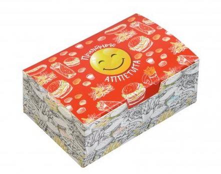 "Коробка на вынос 115х75х45 мм, с печатью ""Smile"""