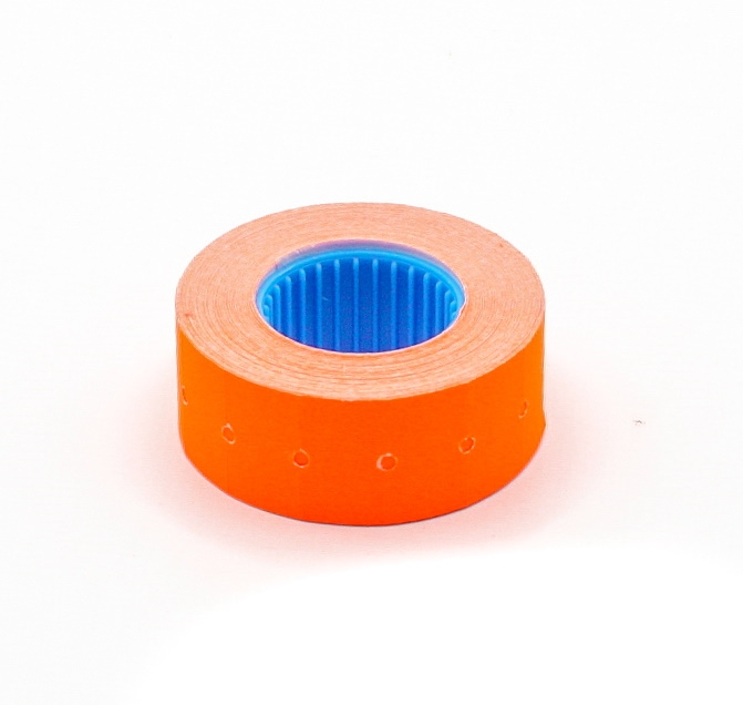 Этикет-лента для пистолета 21,5х12 мм, оранжевая