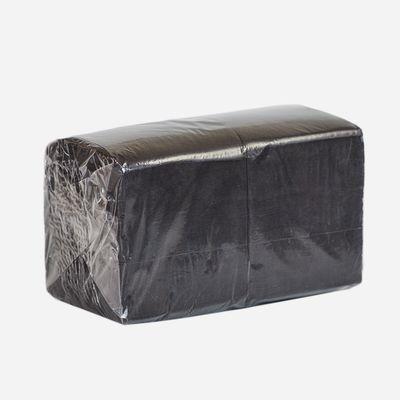 Салфетки чёрные 1 слой 24х24 см,  400 штук